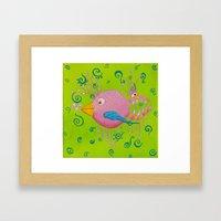the bird-fish Framed Art Print