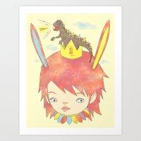 CROWN NEST - GOZILLA KIN… Art Print