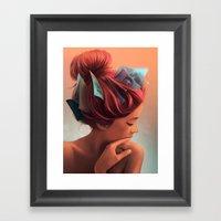I miss you Framed Art Print