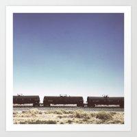 Desert Train Art Print