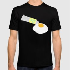 PAINT MY SUNNY SIDE SMALL Mens Fitted Tee Black