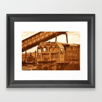 Train Of Thoughts Framed Art Print