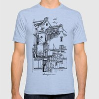 Penang, Malaysia (I) Mens Fitted Tee Athletic Blue SMALL