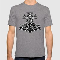 Thor's hammer redux Mens Fitted Tee Tri-Grey SMALL
