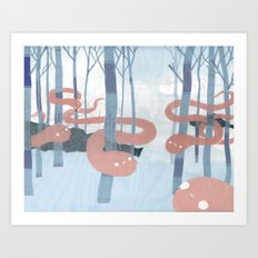 Snakes in the Forest Art Print