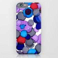 Blue Colour splash  iPhone 6 Slim Case