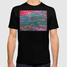 Chipping Paint Black Mens Fitted Tee SMALL