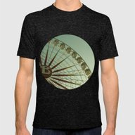 Random Big Wheel Mens Fitted Tee Tri-Black SMALL