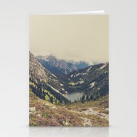 typography Stationery Cards featuring Mountain Flowers by Kurt Rahn