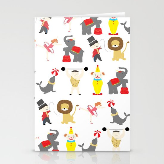 Circus Stationery Card