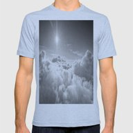 Clouds Mens Fitted Tee Athletic Blue SMALL