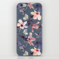 iPhone & iPod Skin featuring Butterflies And Hibiscus… by Micklyn