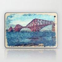 Forth Bridge Watercolor and Sketch Laptop & iPad Skin