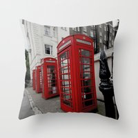 Phone Booths Of London Throw Pillow