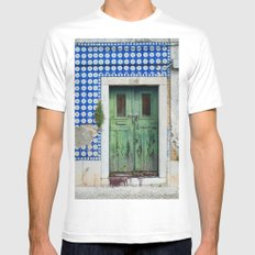 DOOR, LISBON, PORTUGAL Mens Fitted Tee White SMALL