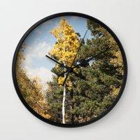 Skinny Aspen Wall Clock