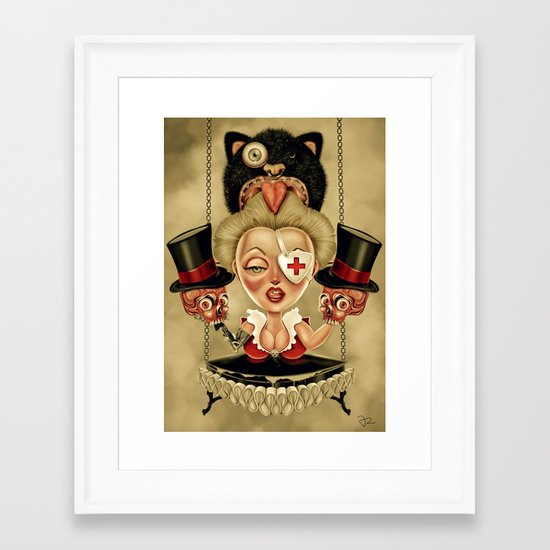 Hanging from Above Framed Art Print