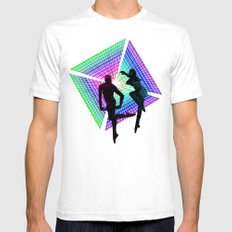 passengers in space White SMALL Mens Fitted Tee