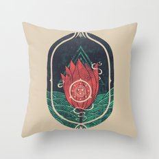 Pulsatilla Patens Throw Pillow