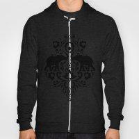 Elephant Damask Black An… Hoody