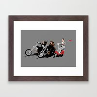 Peewee Rider. Framed Art Print