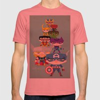 Avengers 2 Fan Art Mens Fitted Tee Pomegranate SMALL