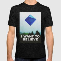 I WANT TO BELIEVE - 5TH … Mens Fitted Tee Tri-Black SMALL