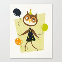 Owlivia And Her Belliger… Canvas Print