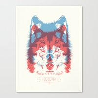 WOLF 3D Canvas Print