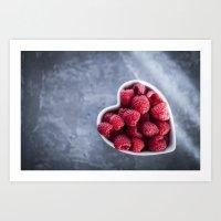 Raspberries For A Health… Art Print