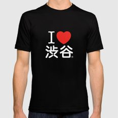 I ♥ Shibuya SMALL Mens Fitted Tee Black