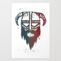 Brutal Viking 4 Art Print