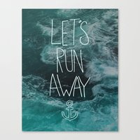 Let's Run Away - Ocean Waves Canvas Print