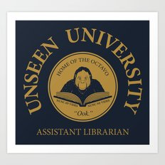 Assistant Librarian Art Print