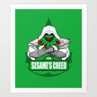 Sesame's Creed Art Print
