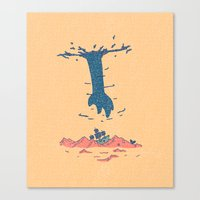 The Guy Above Canvas Print