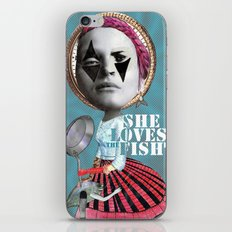 she loves the fishes iPhone & iPod Skin