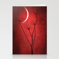 Red Is On Stationery Cards