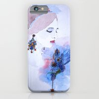 lady iPhone & iPod Cases featuring Lady by S.Svetlankova