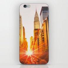 NYC Skyline Sunset iPhone & iPod Skin