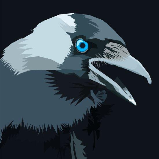 Corvus monedula has a stinking attitude Art Print