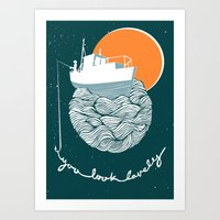 Fishing for Compliments Art Print