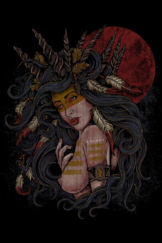 She of the Golden Feather Art Print