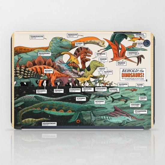 BEHOLD! THE DINOSAURS!  iPad Case