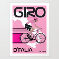 GIRO D'ITALIA Art Print