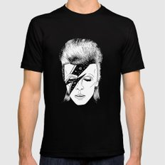 M. BOWIE SMALL Mens Fitted Tee Black