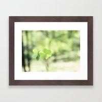Finding Love in Nature Framed Art Print
