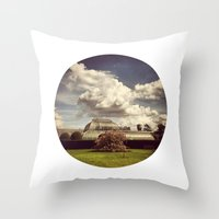 Telescope 2 glasshouse at kew Throw Pillow