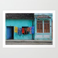 Out to dry in rural Bahia Art Print