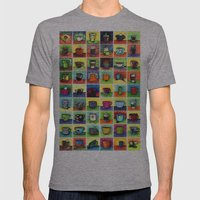 The Daily Coffee Poster Mens Fitted Tee Athletic Grey SMALL